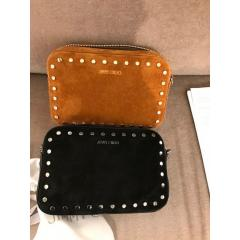ジミー チュウ バッグ スエード スタッズ Jimmy Choo Quinn Suede Mini Bag with Round Studs Black/Nutme  4
