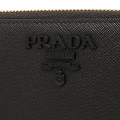 プラダ PRADA SAFFIANO LEATHER 長財布 無地 NERO 黒  6