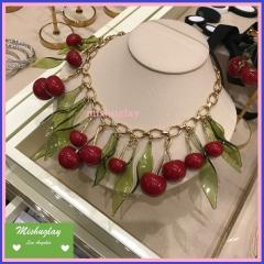 【kate spade】日本未入荷★さくらんぼのstatement necklace★