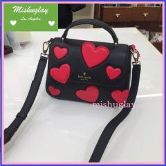 【kate spade】真っ赤なハートがいっぱい♪heart small alexya★