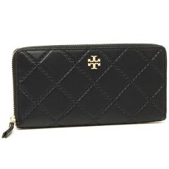 トリーバーチ TORY BURCH GEORGIA ZIP CONTINENTAL WALLET 長財布 BLACK 黒 1
