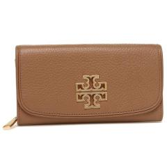 トリーバーチ TORY BURCH BRITTEN DUO ENVELOPE CONTINENTAL 長財布 BARK 茶色 1