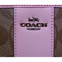 NWT Coach Accordion Zip Wallet in Signature Canvas F54630 2