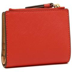 トリーバーチ TORY BURCH ROBINSON MINI WALLET 二つ折りPOPPY ORANGE/CARDAMOM  3