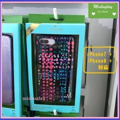 【kate spade】SALE★キラキラdotty plaid☆iPhone7/8 Plus★ 1