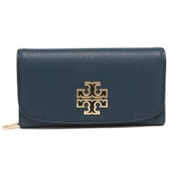 トリーバーチ TORY BURCH BRITTEN DUO ENVELOPE CONTINENTAL WALLET 長財布 HUDSON BAY 紺 5