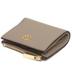 トリーバーチ TORY BURCH MINI WALLET ROBINSON 二つ折りFRENCH GRAY  7
