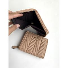 NWT COACH SMALL ZIP AROUND WALLET WITH QUILTING F31600 8