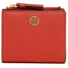 トリーバーチ TORY BURCH ROBINSON MINI WALLET 二つ折りPOPPY ORANGE/CARDAMOM  5