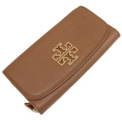 トリーバーチ TORY BURCH BRITTEN DUO ENVELOPE CONTINENTAL 長財布 BARK 茶色 4