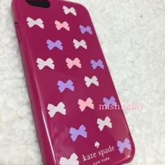 【kate spade】1月新作★ミニリボン柄♪ iPhone6/6s case★ 4