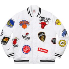新作☆ Supreme SS18 Supreme Nike NBA Warm-Up Jacket White ジャケット シュプリーム