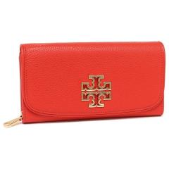 トリーバーチ TORY BURCH BRITTEN DUO ENVELOPE CONTINENTAL WALLET 長財布 オレンジ 1