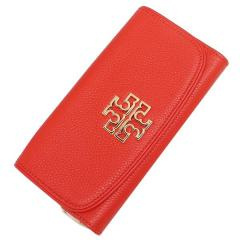 トリーバーチ TORY BURCH BRITTEN DUO ENVELOPE CONTINENTAL WALLET 長財布 オレンジ 4