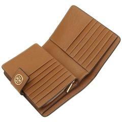 トリーバーチ TORY BURCH ROBINSON FRENCH FOLD WALLET 二つ折りTIGERS EYE 茶色  4