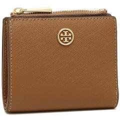 トリーバーチ TORY BURCH ROBINSON MINI WALLET 二つ折りTIGERS EYE 茶色 1