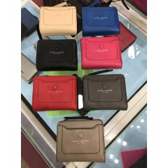 【Marc Jacobs】Leather wallet コンパクト 折りたたみ財布 1