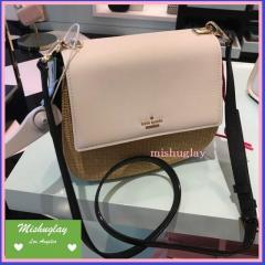 【kate spade】国内完売★涼しげなポシェットstraw byrdie★