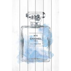 Marmont Hill Chanel Floral Light Blue ウッドパネルアートボード 1