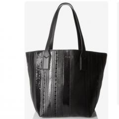 【Marc Jacobs】Wingman Stripe Shopping Tote ブラック 2