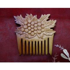 木製 櫛 くし 彫刻 クランベリー wooden comb hair comb engraved cranberries 1