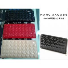 【Marc Jacobs】Heart Embossed ハートが可愛い 長財布 3カラー 1