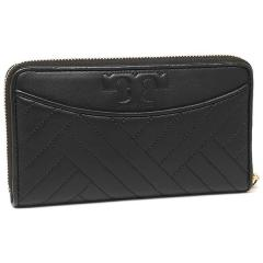 トリーバーチ TORY BURCH ALEXA ZIP CONTINENTAL WALLET 長財布 BLACK  3