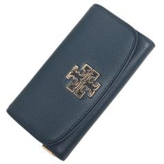 トリーバーチ TORY BURCH BRITTEN DUO ENVELOPE CONTINENTAL WALLET 長財布 HUDSON BAY 紺 4