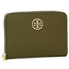 トリーバーチ TORY BURCH ROBINSON ZIP COIN CASE 小銭入れ・カードケース GREEN OLIVE