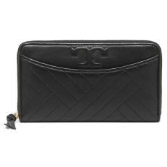 トリーバーチ TORY BURCH ALEXA ZIP CONTINENTAL WALLET 長財布 BLACK  5